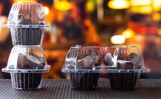 Пластиковые контейнеры для пирожных, эклеров, кексов, пончиков.