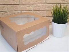 Упаковка 240*240*120 мм крафт с печатью