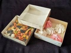 Упаковка для пирожных, пряников, зефиров, мармеладов, сладостей  120*120*30