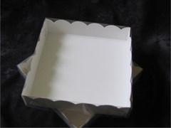 Упаковка для пирожных, пряников, зефира, мармеладов, сладостей  200х200х45 мм (пряник большой)