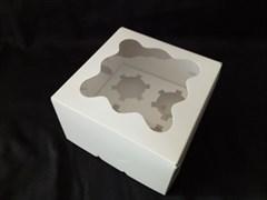Упаковка 4 капкейка с окном