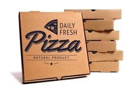 Коробка под пиццу 330х330х40 мм Бурый гофрокартон