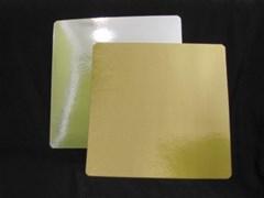 Подложка 230х230 мм 3,2 мм золото/серебро
