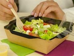 Контейнеры для салатов и горячих блюд с ламинацией (OPSALAD) blak 800 мл