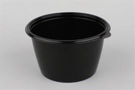 Контейнер круглый суповой 144 - 750 мл. Чёрно/белый