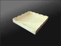 Упаковка для пирожных, пряников, зефира, мармеладов, сладостей  250х250х40 мм (ПРЯНИК)